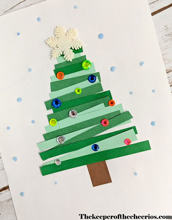 Paper Strips Christmas Crafts Christmas Art Projects Christmas Tree Crafts Christmas Crafts Decorations