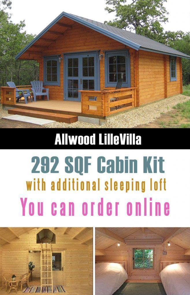 Allwood Lillevilla Cabin Is One Of The Cutest And Really Affordable Prefab Tiny Houses That You Can Order From