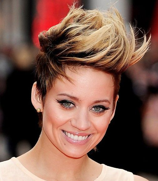 short faux hawk hairstyles for women | new faux hawk hairstyle for women kimberly wyatt new fauxhawk haircut
