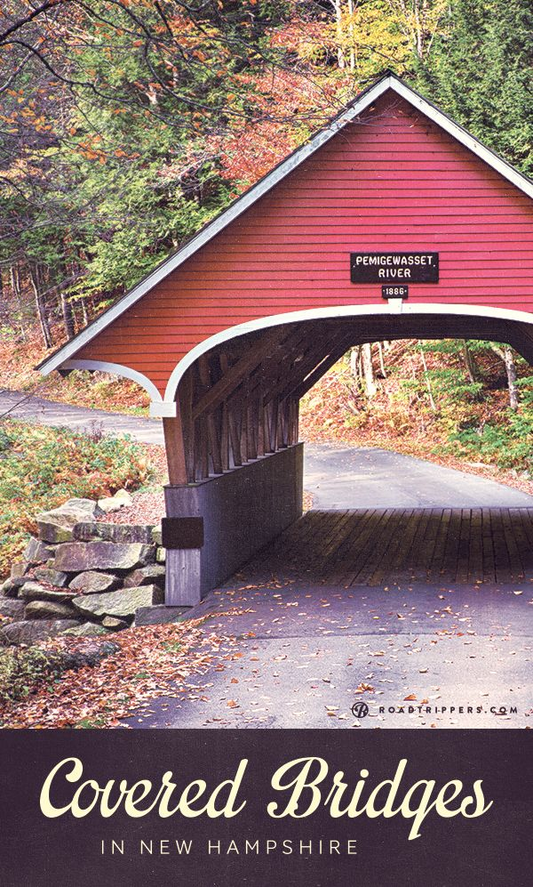 New Hampshire has a ton of historical covered bridges. These great attractions are very scenic and you can still walk or drive through most of them today! - roadtrippers.com