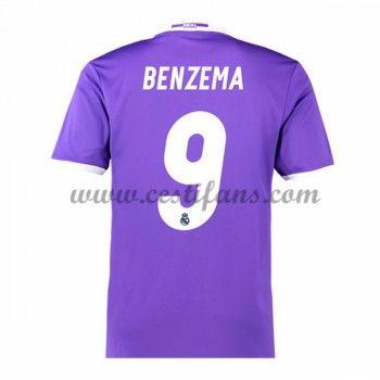 Real Madrid Fotbalové Dresy 2016-17 Benzema 9 Venkovní Dres