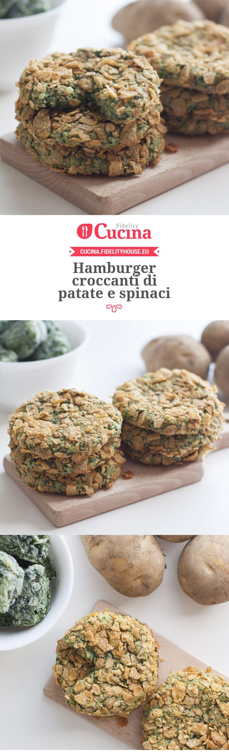 #Hamburger croccanti di #patate e #spinaci