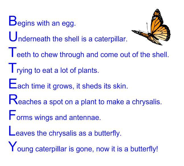 Acrostic Poems Examples