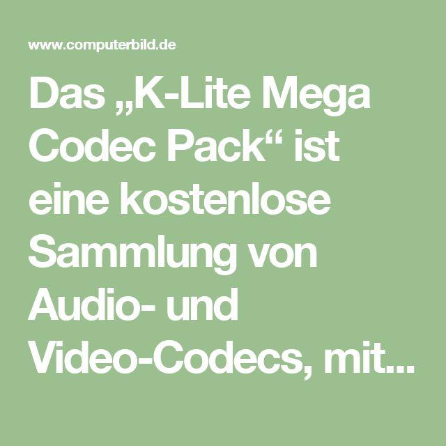 """Das """"K-Lite Mega Codec Pack"""" ist eine kostenlose Sammlung von Audio- und Video-Codecs, mit der Sie so gut wie alle Musikdateien und Filme abspielen können. Praktisch: Die einzelnen Codecs müssen Sie nicht separat herunterladen, da alle gängigen Wiedergabe-Module und DirectShow-Filter bereits im Package enthalten sind. Neben verschiedenen Spezialtools bringt das """"K-Lite Mega Codec Pack"""" auch den """"Media Player Classic – Home Cinema"""" mit, eine sehr leistungsfähige Alternative zum Windows Media…"""
