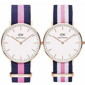 Hot 18 Farbe Top Marke Daniel Wellington beobachten Luxus Stil DW Uhren Männer Frauen Nylon Strap Militär Quarz Armbanduhr reloj