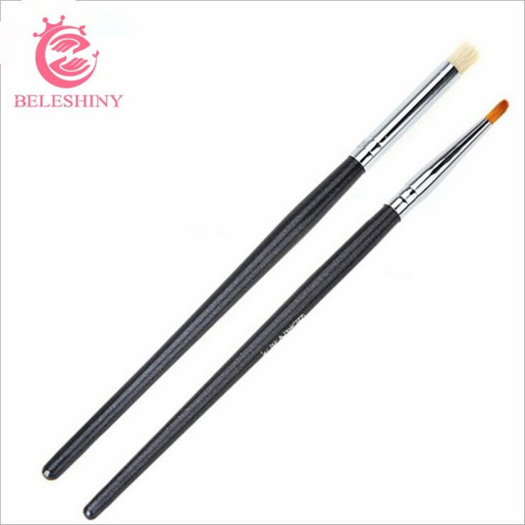 Beleshiny Nail Art Brush Set, 2psc/set gel polish painting pen brush for manicure,Professional Nail Equipment Drawing Tool