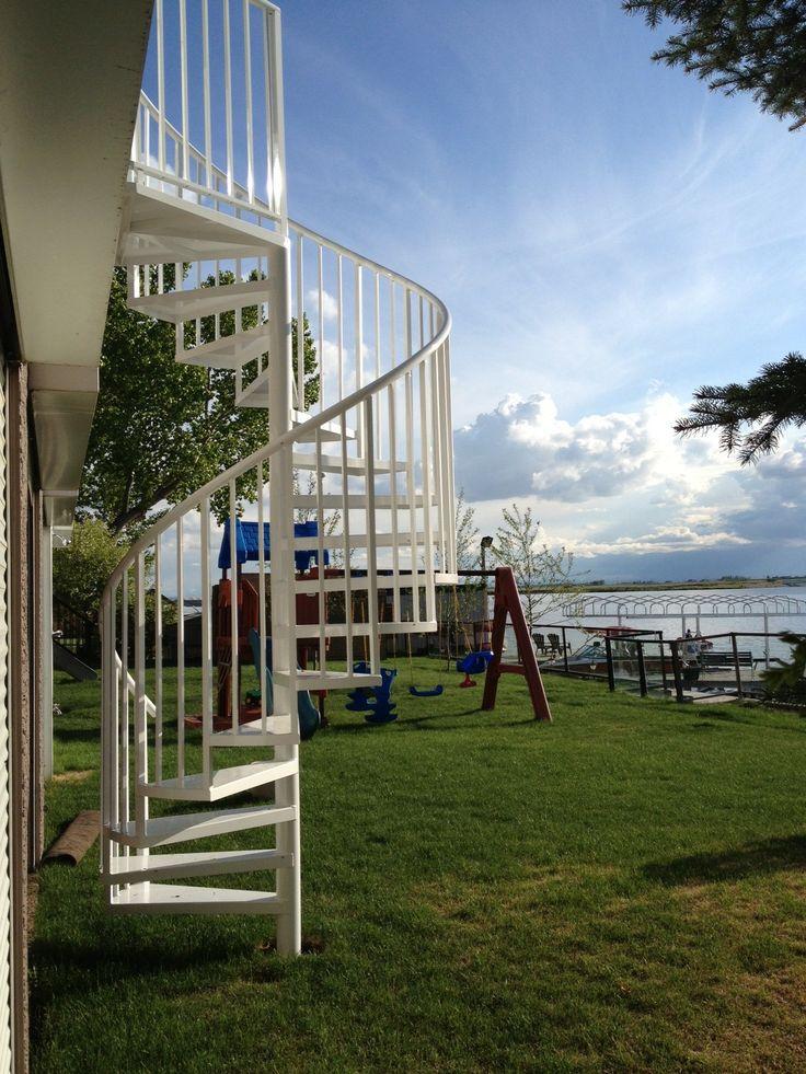 Custom Aluminum Spiral Stairs. www.thelittledecker.ca