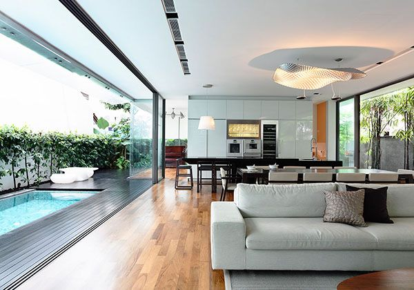 Stunning two storey bungalow in Singapore by HYLA