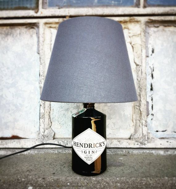 Hendricks Gin Flasche Grautönung Lampe von elfolamps auf Etsy