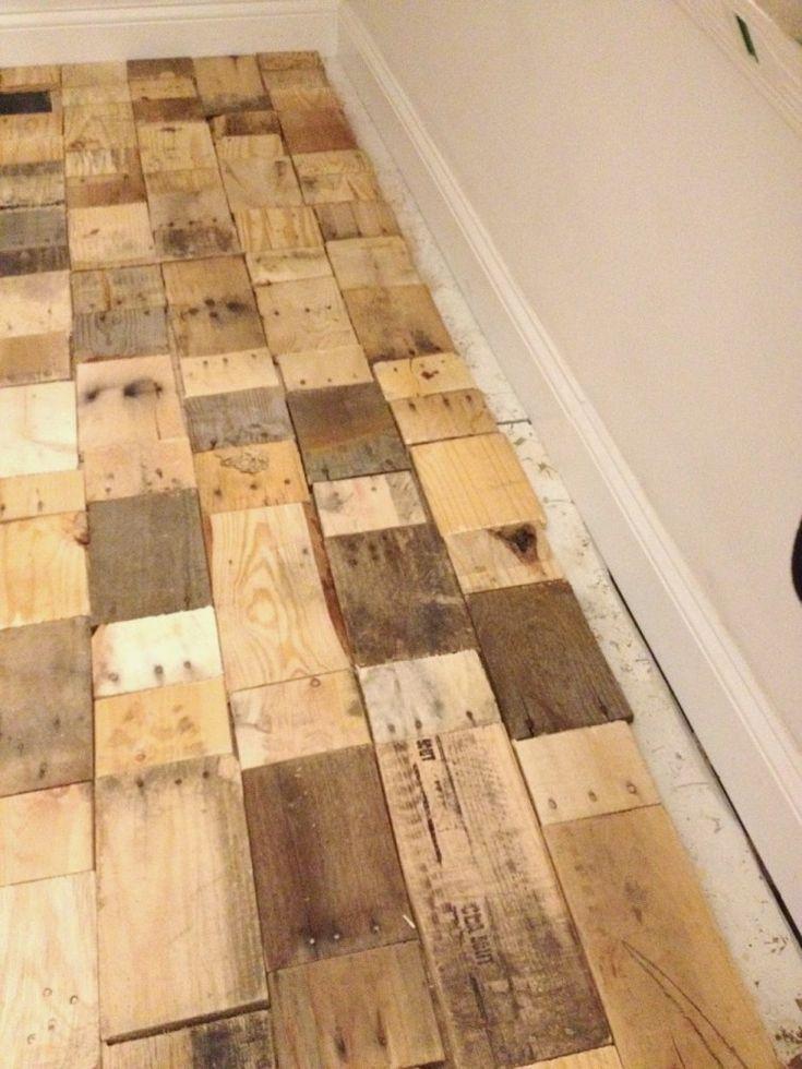 piso parquet casero reutilizando maderas - terminado
