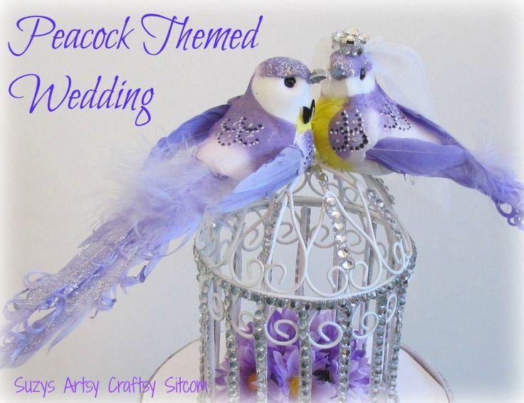 diy wedding card box peacock theme by @Suzyssitcom #DavidTuteraDIY