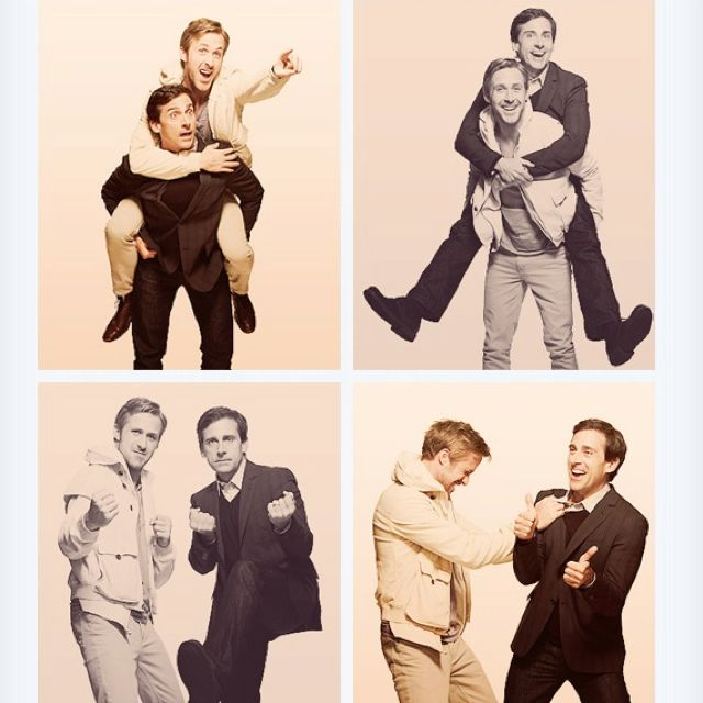 Ryan Gosling & Steve Carrell... can we talk about how in love with this I am??