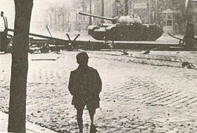 1956: The Hungarian Revolution is a spontaneous nationwide revolt against the government of the People's Republic of Hungary and its Soviet-imposed policies, October 23-November 10. It is the first major threat to Soviet control in Eastern Europe since World War II.