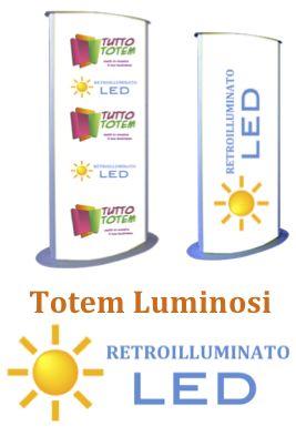 Totem Luminoso, in metallo e alluminio. compreso di pannelli opalini stampati e dotati di retro illuminazione a tecnlogia LED . Prodotto da esterno e interno , varie misure disponibili .