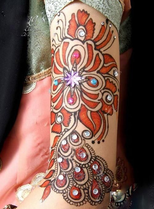 Red Henna Tattoo: 31 Best Brown Red Henna Tattoos Images On Pinterest
