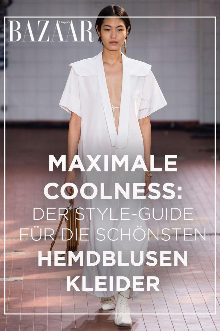370f8e2bf457 Kleider-Trend 2019: Maxihemdkleider in Weiß   Tipps, Anleitungen ...