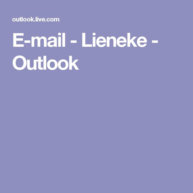 E-mail - Lieneke - Outlook