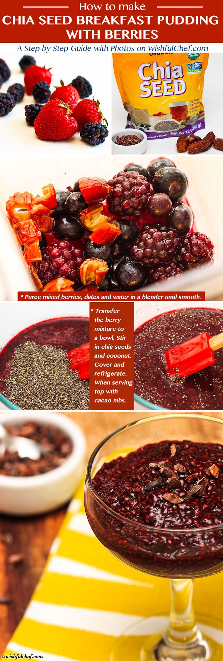 Chia Seed Breakfast Pudding with Berries // wishfulchef.com #Healthy #Dessert