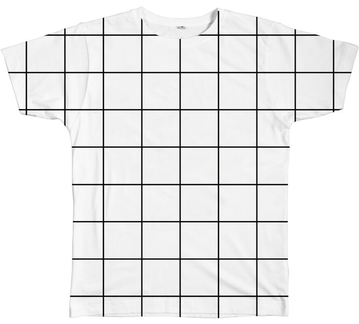 Grid Tee in black and white