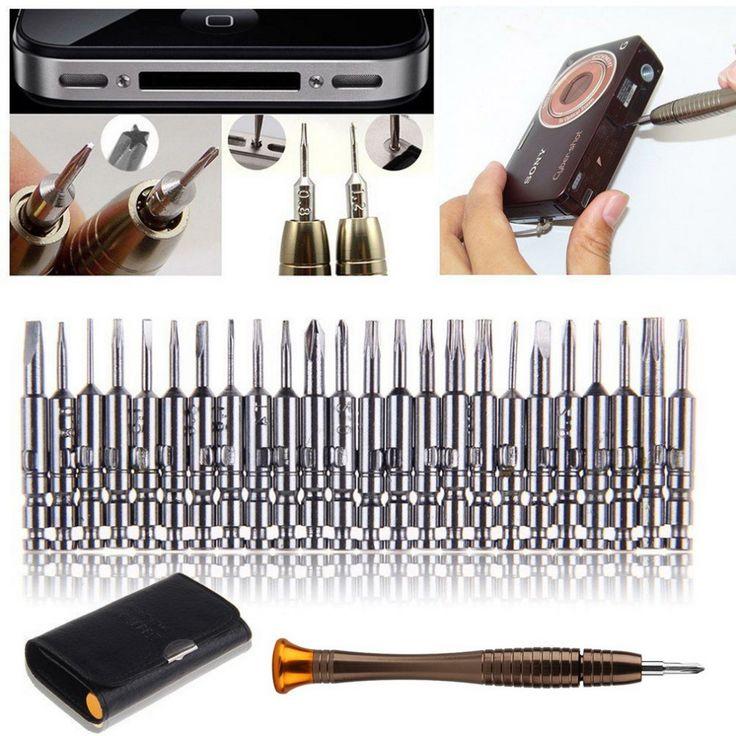 1 Unidades 25 en 1 destornillador torx juego de herramientas de reparación para el iphone teléfono móvil de la Tableta PC teléfono móvil herramienta de reparación torx t2 herramientas Marca nueva
