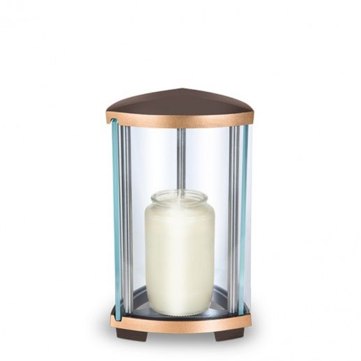 Modernes Grablicht »Carvus« mit Glas - Hochwertiger Bronzeguss & Handarbeit ✤ Jetzt versandkostenfrei kaufen bei ▷ Serafinum.de !