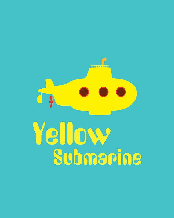 PRINTABLE Yellow Submarine Print Beatles Poster by PuffPaperCo