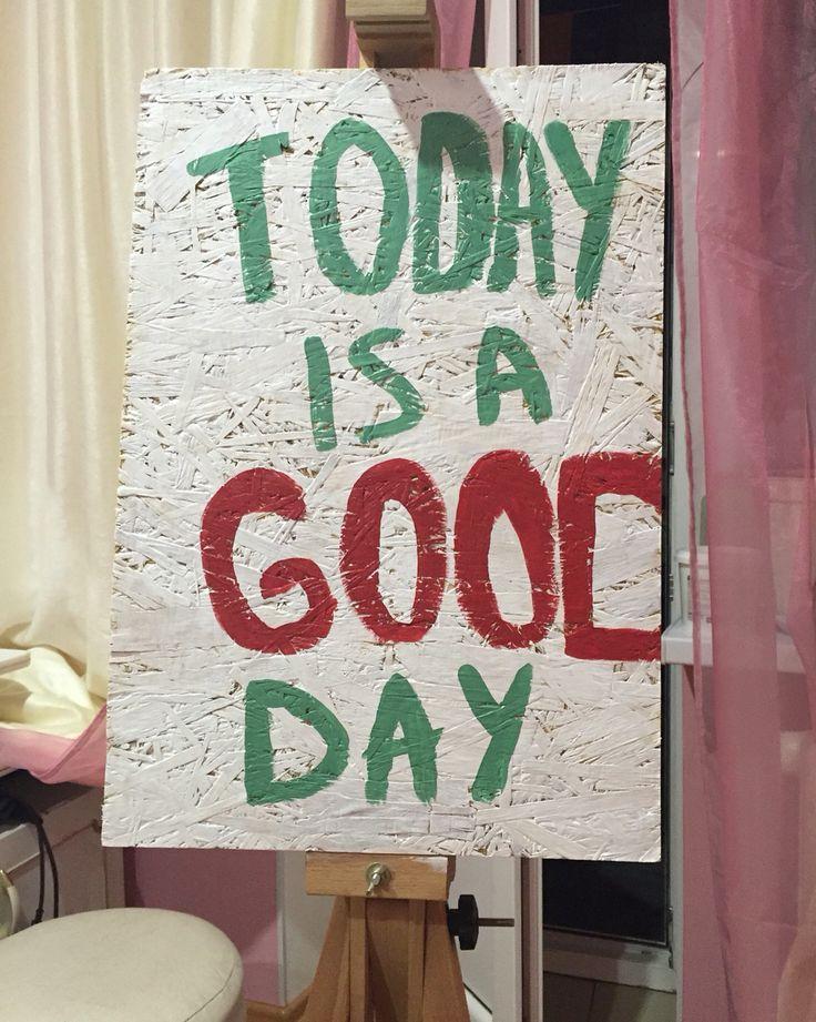 """Доска белая 50х35 с надписью """"Today is a Good Day"""" Цена 520 грн."""