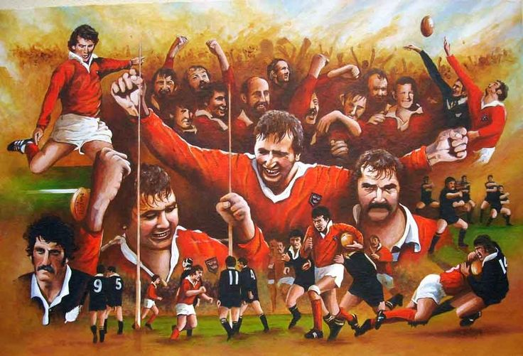Munster V. All Blacks 1978 by Neil O'Dwyer on ArtClick.ie Ireland Rugby Art