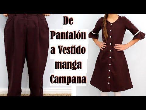 De Pantalón Grande a Vestido Manga Campana - YouTube