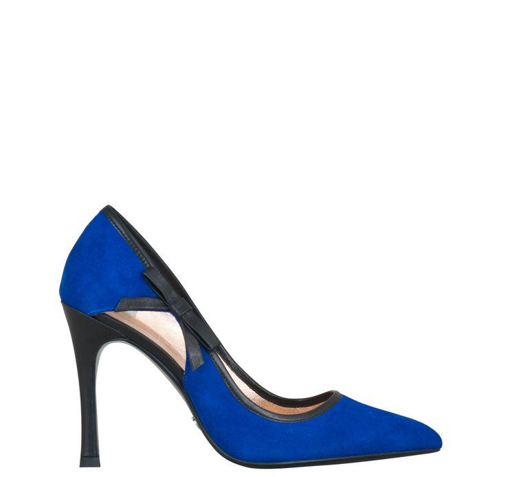 Retrouvez ANAIS, votre Escarpins Bleu Electrique à commander directement sur Kesslord.fr.