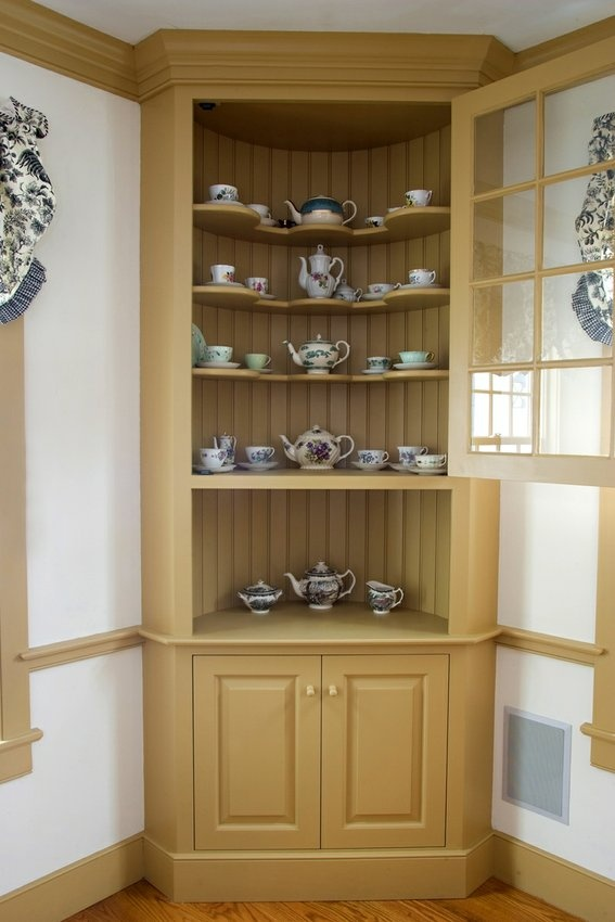 Could easily paint my corner cabinet it is a reproduction for Reproduction kitchen cabinets