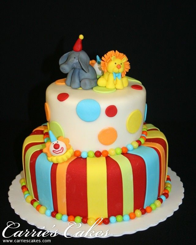 circus party cakes