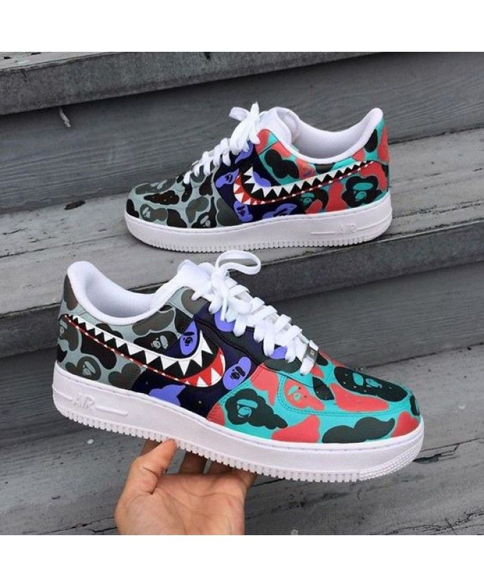 the latest 16a7f 69987 Nike Air Force 1 Low Bape Customs Shoe