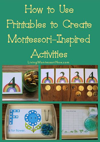 How to Use Printables to Create Montessori-Inspired Activities