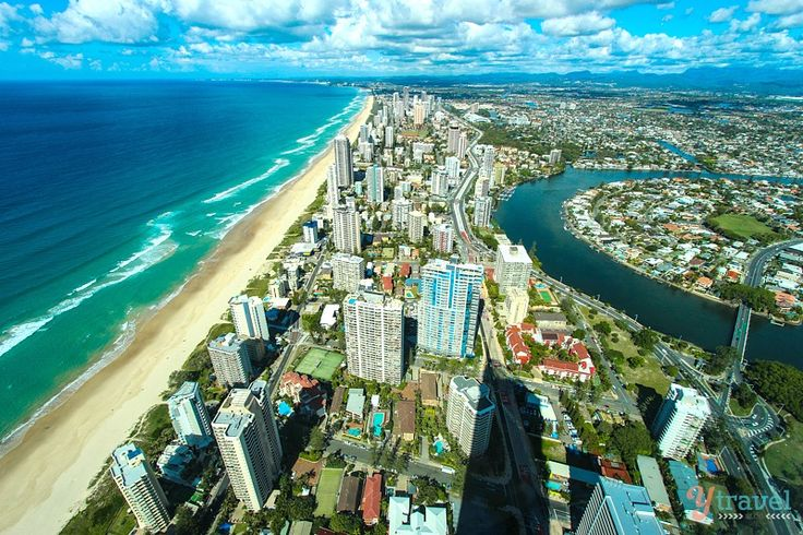 Gold Coast, Queensland, Australia - view from the SkyPoint Climb