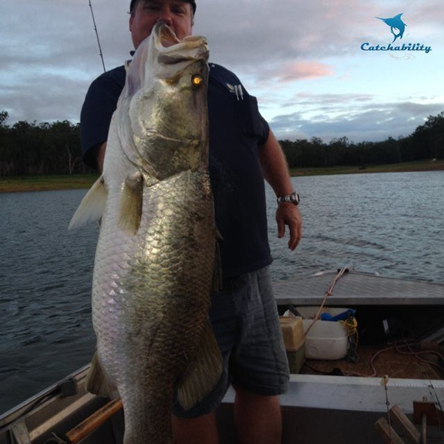 """Catch of the Week - Barramundi caught by David John McDowell. """" My first barra from Tinaroo Wow""""  David wins a handmade lure from Ninja Lures and a cap from Electric Sports Fishing."""
