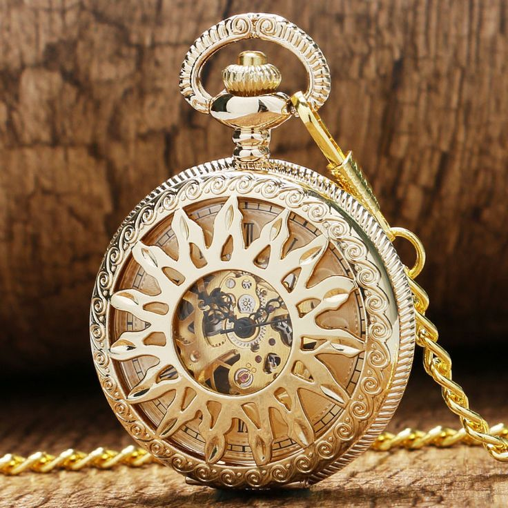 Hollow Gear Skeleton Steampunk Mechanical Pocket Watch