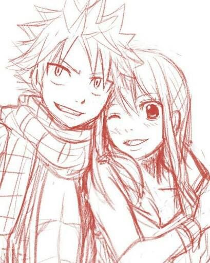 Fairy tail natsu and lucy doujinshi pinterest boys - Lucy fairy tail drawing ...