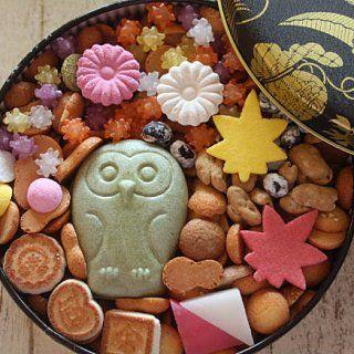 自分用の贈り物にしたくなくなるお菓子、菊廼舎の「冨貴寄の秋色缶」