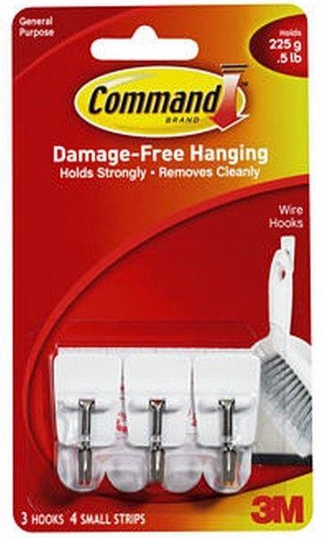 Command Utensil Hook (Gantungan Peralatan Dapur) (eceran) - Gantungan pd Dinding Unik Kuat Tanpa Paku Jual dg Harga Murah  3 hook, 4 strip - Tidak merusak dinding, melekat kuat, tanpa bekas, mudah dipasang dan mudah dilepas - Dapat dipasang pada berbagai permukaan dinding - Kapasitas Beban: 225g. http://tigaem.com/command-hook/499-command-utensil-hook.html  #command #gantungandapur #3M