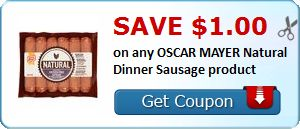 New Coupon!  Save $1.00 on any OSCAR MAYER Natural Dinner Sausage product - http://www.stacyssavings.com/new-coupon-save-1-00-on-any-oscar-mayer-natural-dinner-sausage-product/
