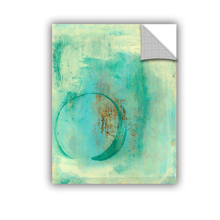 ArtWall Elena Ray ' Teal Enso ' Art Appeals Removable Wall Art