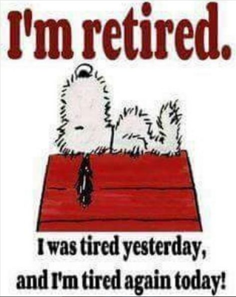 It's official, I'm retired!