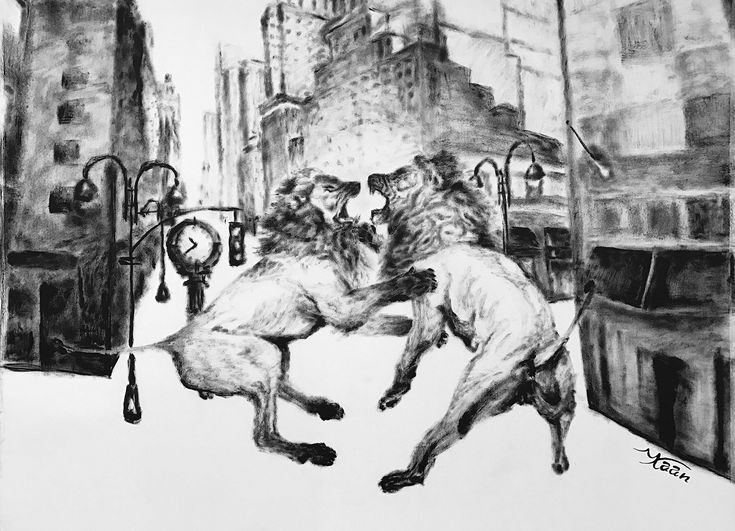 EKAV-ARTIST New Generation 4 sergisi: KAAN SAATÇİ - Clash of Lions Kağıt üzerine mürekkep, 56x7 cm, 2016