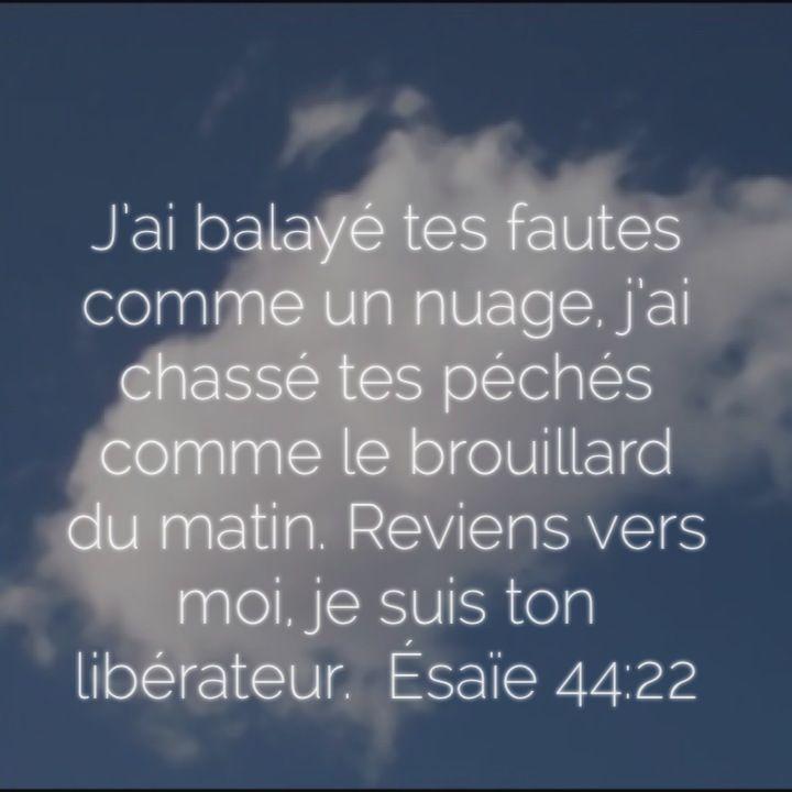 Prophétie sur Jésus en tant que libérateur Esaïe 44:22