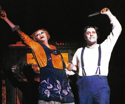"Angela Lansbury and Len Cariou in ""Sweeney Todd"""