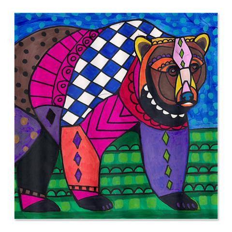 Bear Art Shower Curtain Kids Or Adult Shower By Heathergallerart Shower Curtains