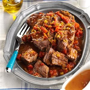 Lone Star Pot Roast Recipe -Pot roast becomes especially delicious with the addition of chopped green chilies and taco seasoning. —Helen Carpenter, Albuquerque, New Mexico