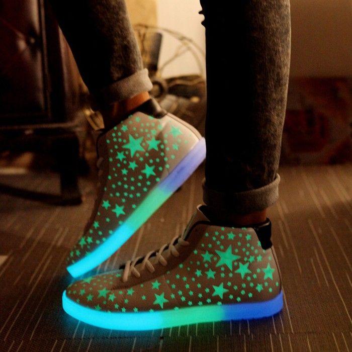 Chaussure Led Montante Avec Étoiles Fluorescente