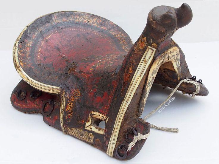 Antique islamic turkmen Uzbek, wooden painted horse saddle pferde Sattel 16/1